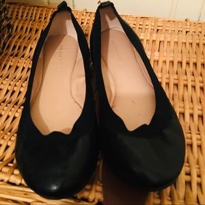 Banana Republic Ballet Flats -8 black leather